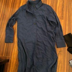 A.P.C. blue shirt dress